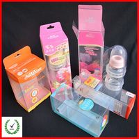 Colorful clear nursing bottle box