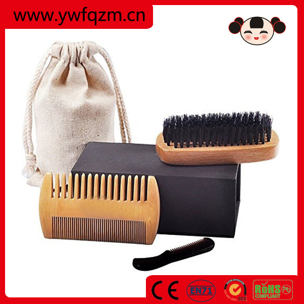 Amazon OEM wooden beard brush comb set
