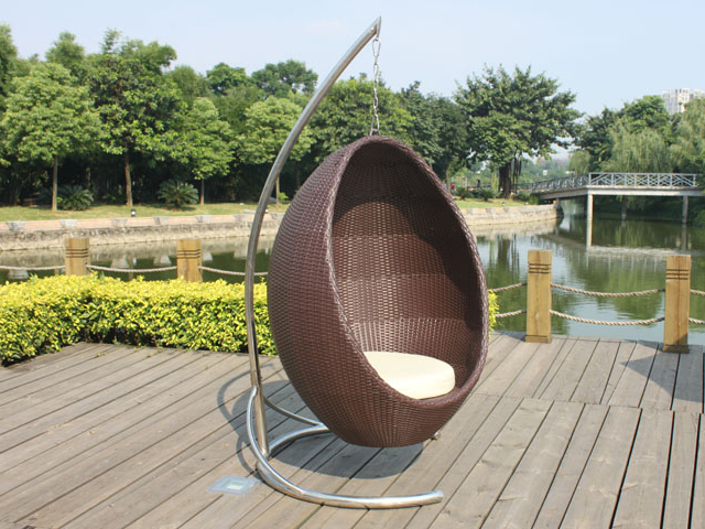 2018 one set waterproof rattan wicker patio swing for sale