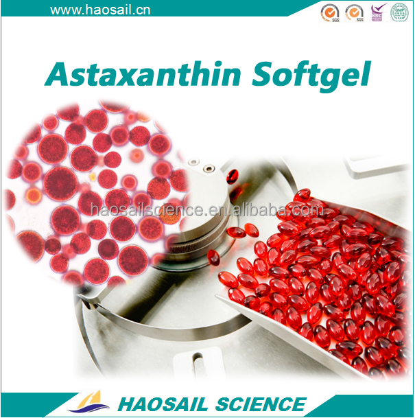 Halal GMP OEM Natural Astaxanthin Softgel