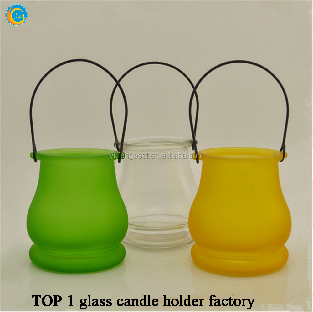 hanging glass wall candle container