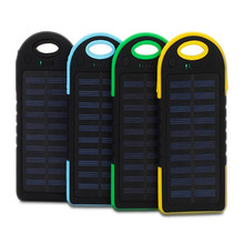 2019 New Products 5000mah Solar Charger Power Bank Waterproof Solar Power Bank