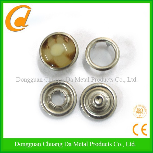 polished cap top buttons