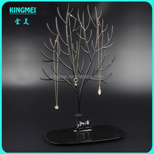 Best seller custom tree shape animal black acrylic necklace display stand cheap