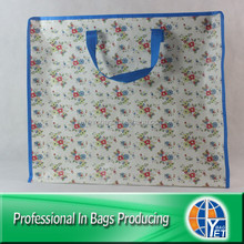 Lead Free Lamination Printed PP Woven Travel Zipper Bag