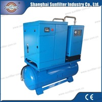 10hp 7.5kw Combined Screw Air Compressor for 75 hp high efficiency rotary screw air compressor sale