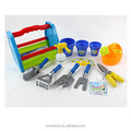 ST3302642 Outdoor plastic toys14 pcs handle carry plastic box garden tool toys play set