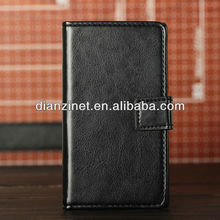 High Quality PU leather case for Sony Xperia Z L36h wallet & stand style Accept Paypal