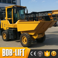 self loading Site dumper 4.0ton construction machine China site dumper truck for sale