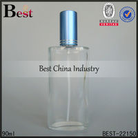 90ml oval glass bottle with aluminum cap, mould perfume bottles, special shape glass bottle for perfume