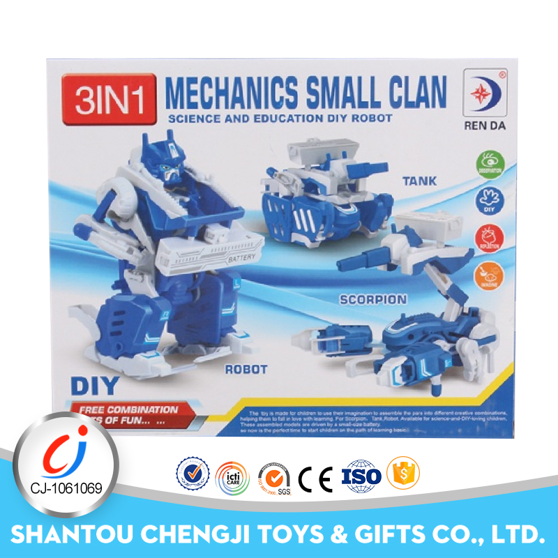 Promotional assembly robot toys 4wd education take apart toy car