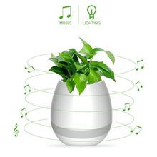 New gift intelligent plant music pot smart touch music flower pot with bluetooth speaker