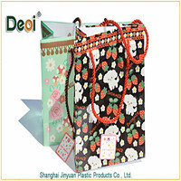 Deoi OEM customized wholesale stationery PP/PVC/PET pp wine bottle gift bag