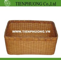 bambo bin/round bamboo storage basket/wicker tray