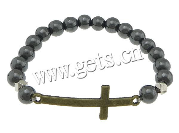 Non Magnetic Hematite Other Shape Elastic Magnetic Bracelet 744730