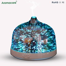 Aromacare 3D Visual Effects Glass Essential Oil Electric Aroma Diffuser