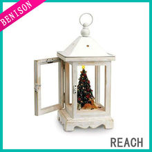 Mr. Christmas Rustic Lighted Fiber Optic Musical Table Top Lantern