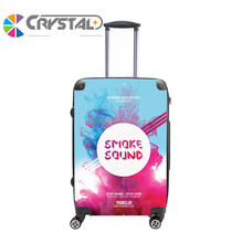 2017 Customized Design cheap top quality PC trolley luggage girl's cute printed luggage