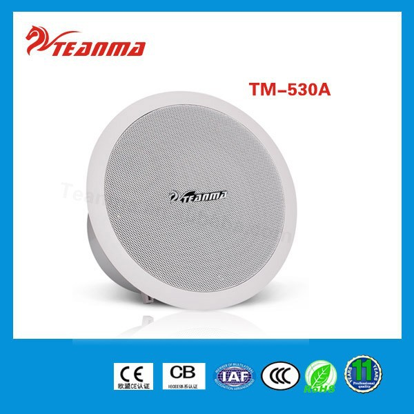 Public address system powered speaker,PA sound system TM530A 30W ceiling speaker