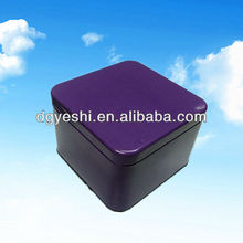 Purple square tin gift boxes and cans for friends