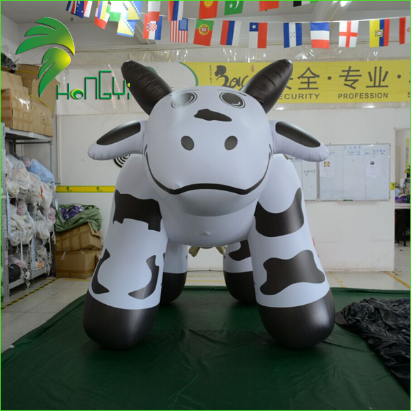 Custom Giant Inflatable Cow Model, Advertising Inflatable Milk Model For Display