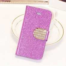Hot selling wallet leather case for phone 5S,for apple phone 5 leather case