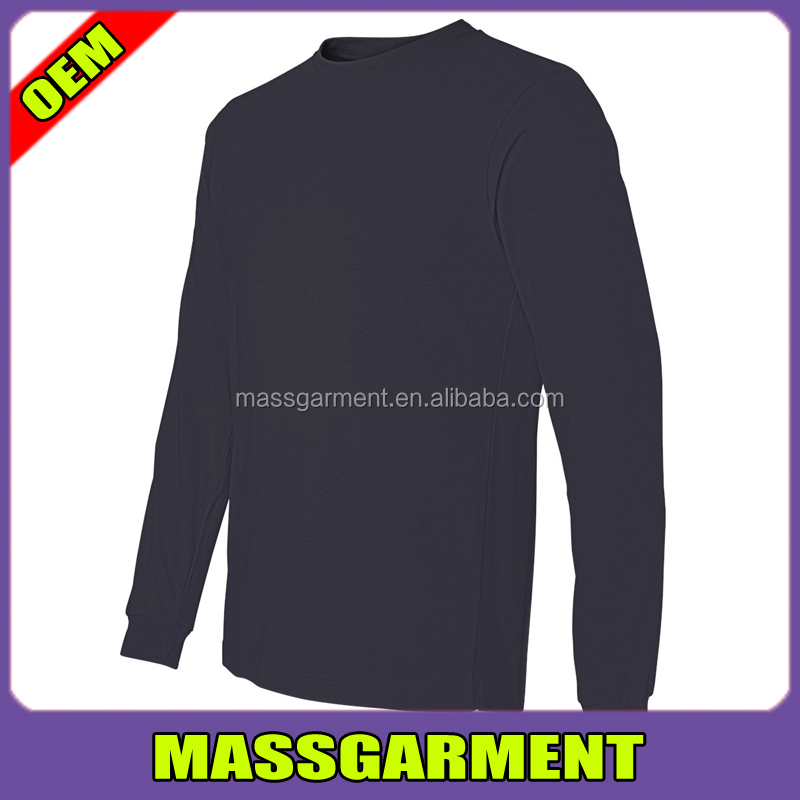 Mens Cotton Blank Lightweight Fashion Long Sleeve Plain T Shirt