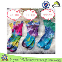 wholesale Fashion custom cute sex young girl Tie dyed printed socks