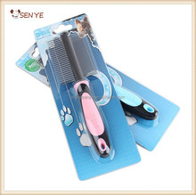 Double Sided Pet Dog Grooming Pin Comb with Silica Gel Handle