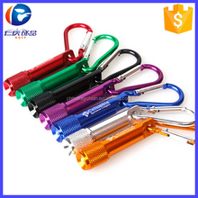 LED Flashlight Light Torch Keychain Carabiner Torch