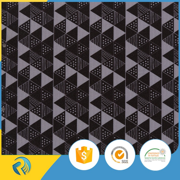 Factory direct wholesale pu coated 900d oxford balck white printed polyester water repellent fabric