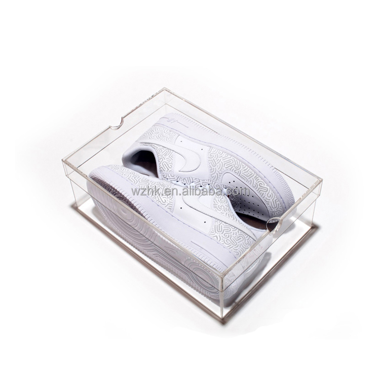 Wholesale square clear display sneaker shoe box