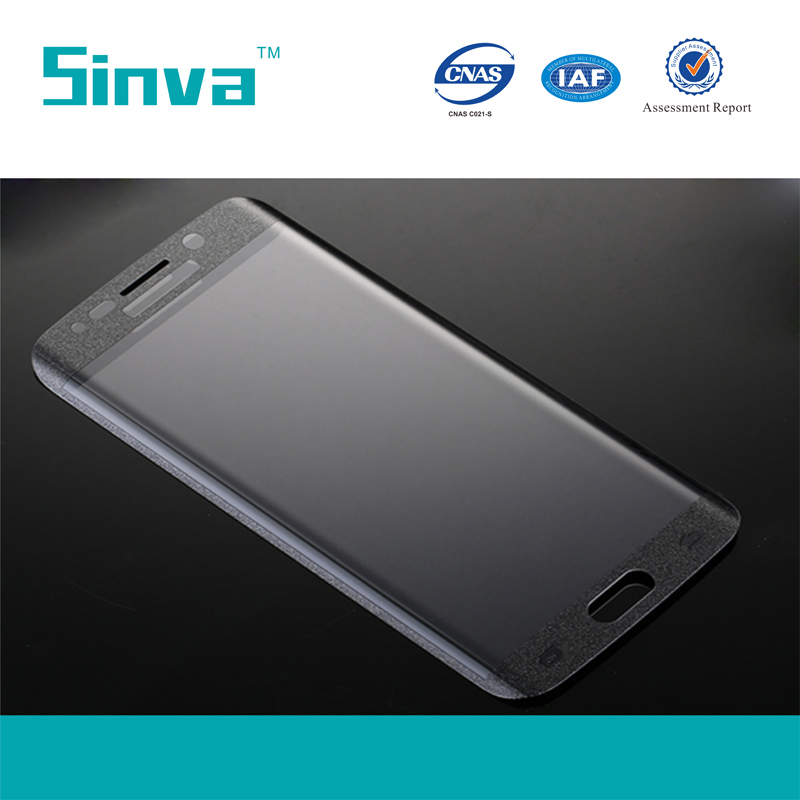Sinva Factory anti-bubble anti-broken full cover screen protector for samsung s6 edge