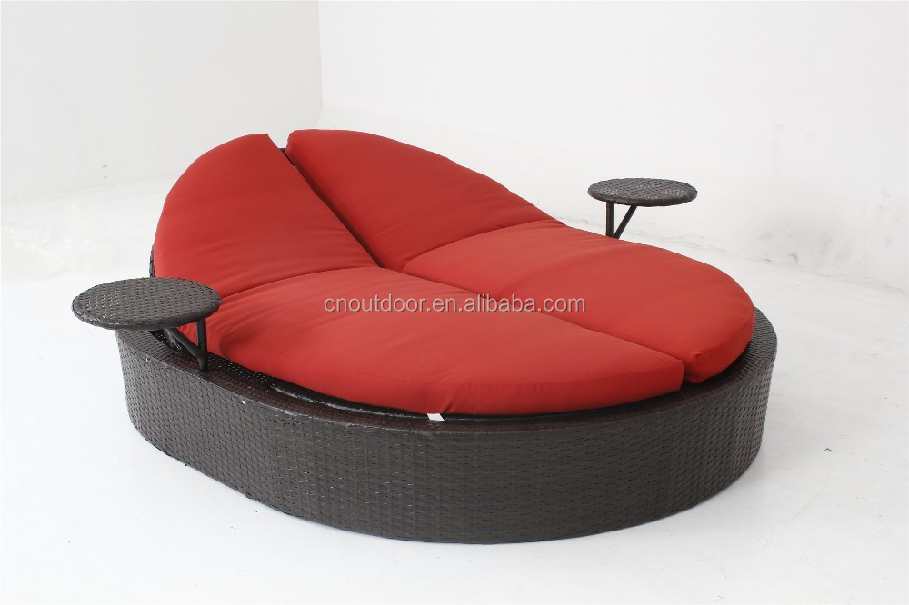 Resort rattan pool furniture Resin/ Leisure Outdoor Sun Lounger/chaise/beach/