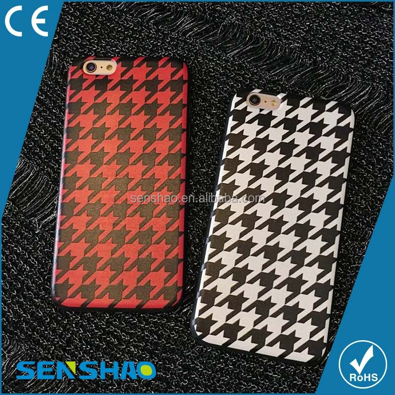Popular Lattice Pattern Hard PC Phone Case For Iphone
