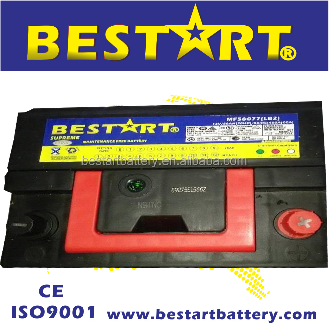 56077-MF vehicle maintenance free 12V60Ah automobile car battery