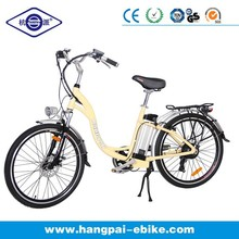 Yellow frame S shaped EN15194 moped electric road bike for sale HP-005