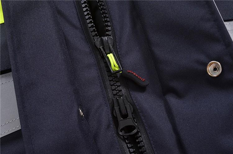 polyester Padded workwear jacket coat winter HV jacket