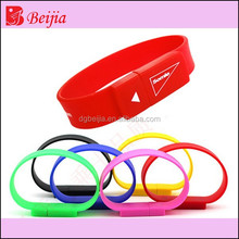 2015 china factory 16GB promotional wristband usb flash drive wholesale