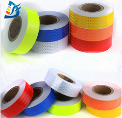 Blue White Sew on PVC Reflective Tape for Clothing