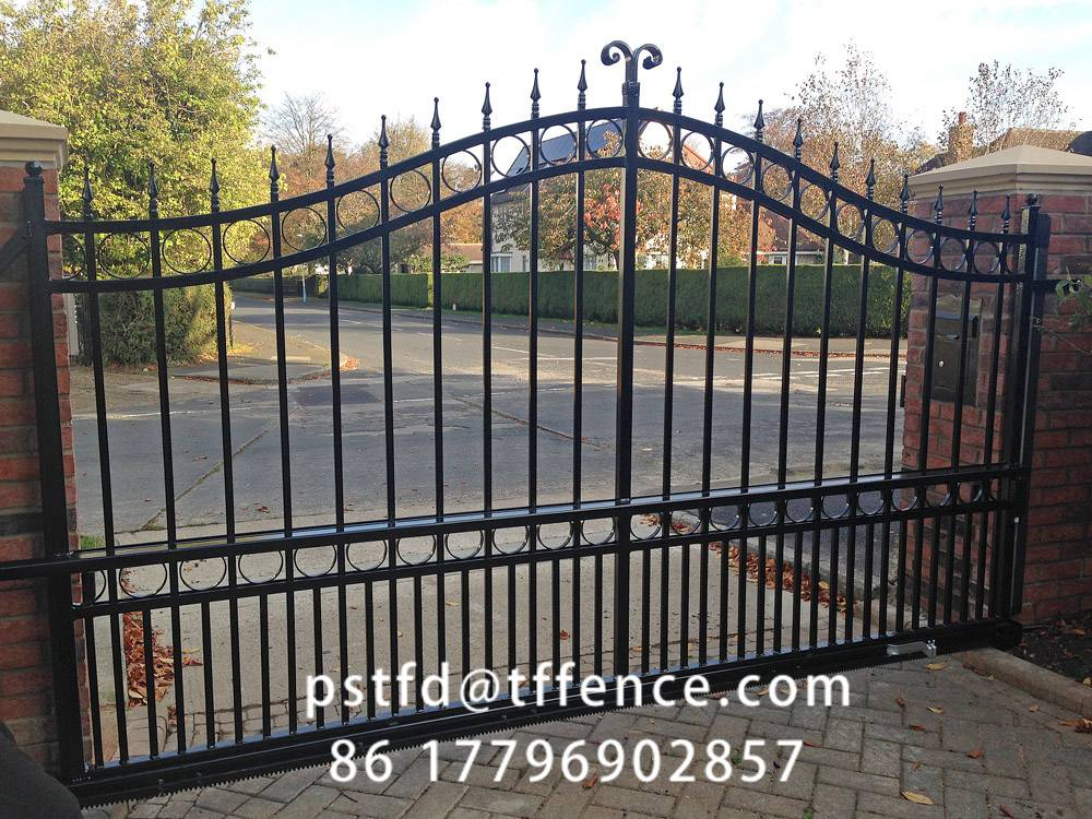 Factory directly sale Used wrought iron door gates garden gate iron main gate