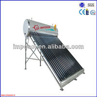 Imposol vacuum tube sunray solar water heater prices
