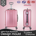HLW pretty rose color trip oem trolley suitcase on wheels