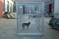 china galvanized steel iron wire large heavy duty dog cage