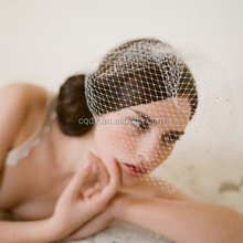 Classic Netting Veil With Off White Nailed Bead
