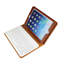 new fashion Bluetooth keyboard oem wholesale mini bluetooth keyboard BT3.0 keyboard for mini ipad/ipad pro case leather
