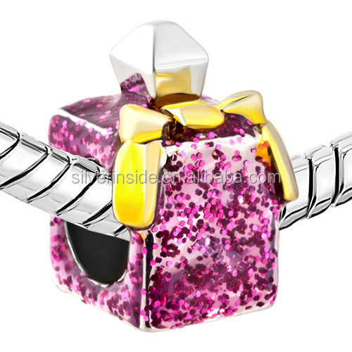 crystal bead Rose Pink Crystal Perfume Bottle Fashion American Girl Charm Bead Jewelry Making Beads
