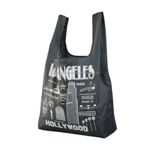 Vest Style Cheap Strong Foldable polyester grocery bag