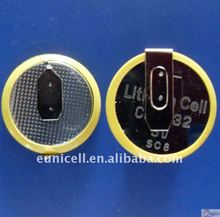 cr1616 Li-ion cells lithium battery 3v cr1620 cr2032 cr2450 with solder tabs