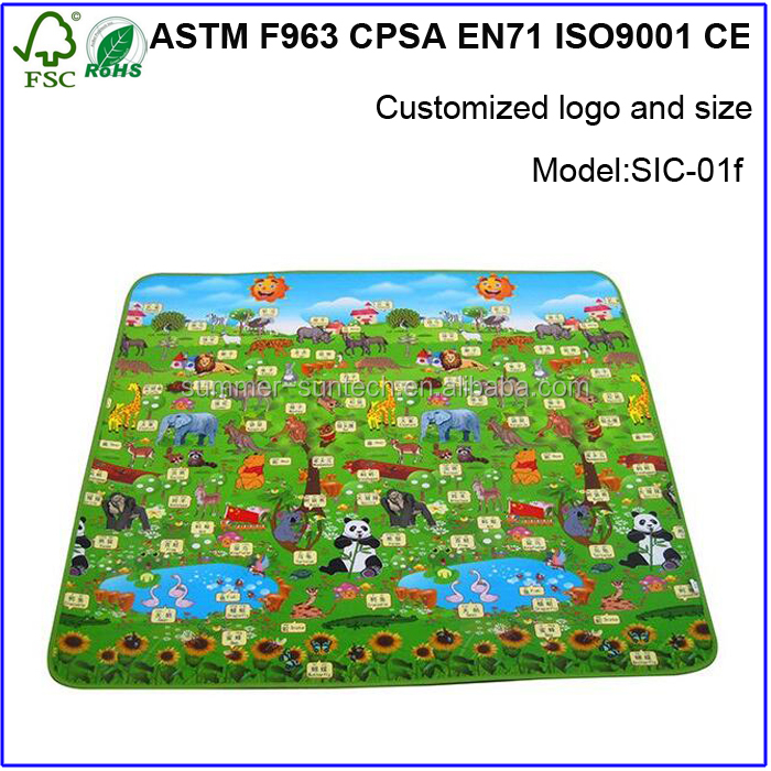 High quality baby playing gym waterproof baby activity baby play room floor mat